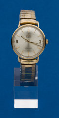 Timepieces:Wristwatch, Omega, Gold Filled Seamaster. ...