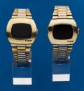 Timepieces:Wristwatch, Two - Pulsar, Gold Filled Wristwatches. ... (Total: 2 Items)