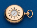 Timepieces:Pocket (post 1900), Swiss, 18k, 35 mm, Demi-Hunter. ...