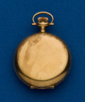 Timepieces:Pocket (post 1900), Swiss, Fancy Dial, 14k, 0 Size, Hunters Case. ...