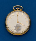 Timepieces:Pocket (post 1900), Hamilton, 14k, Grade 917, Chevrolet Presentation Pocket Watch. ...