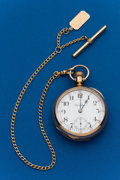 Timepieces:Pocket (post 1900), Hamilton, 18 Size, 21 Jewel, 940 With Chain. ...