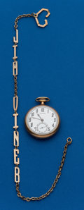 Timepieces:Pocket (post 1900), Illinois, 19 Jewel, 16 Size With Chain. ...