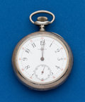 Timepieces:Pocket (post 1900), Tiffany, 14 Size, Sterling Pocket Watch. ...