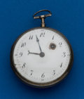 Timepieces:Pocket (pre 1900) , Swiss, Verge Fusee Parts Watch. ...