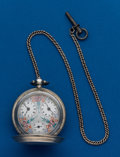 Timepieces:Pocket (post 1900), Swiss, Fancy Dial, Captain's Pocket Watch. ...