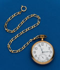 Timepieces:Pocket (post 1900), Elgin, 21 Jewel, Father Time With Chain. ...