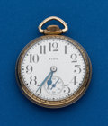 Timepieces:Pocket (post 1900), Elgin, 17 Jewel, 16 Size Pocket Watch. ...