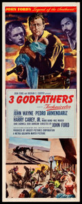 "Movie Posters:Western, 3 Godfathers (MGM, 1948). Insert (14"" X 36""). Western.. ..."