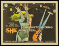 "Movie Posters:Science Fiction, The Astounding She Monster (American International, 1958). HalfSheet (22"" X 28""). Science Fiction.. ..."