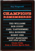 """Baseball Collectibles:Publications, Ted Williams Signed """"Champions Remembered"""" Hardcover Book...."""