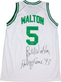 """Basketball Collectibles:Uniforms, Bill Walton Signed Celtics """"Hall Of Fame 93"""" Jersey...."""