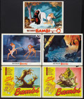 """Movie Posters:Animated, Bambi (RKO and Buena Vista, R-1948, R-1957, and R-1966). Lobby Cards (5) (11"""" X 14""""). Animated.. ... (Total: 5 Items)"""