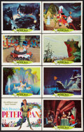 "Movie Posters:Animated, Peter Pan (Buena Vista, R-1969). Lobby Card Set of 8 (11"" X 14""). Animated.. ... (Total: 8 Items)"
