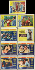 """Movie Posters:War, The Caine Mutiny Lot (Columbia, R-1959). Title Lobby Card and LobbyCards (8) (11"""" X 14""""). War.. ... (Total: 9 Items)"""