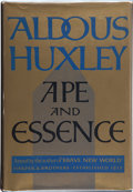 "Books:First Editions, Aldous Huxley. Ape and Essence. New York: Harper &Brothers, 1948. First edition stated, with code ""F-X.""Publisher'..."