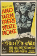 "Movie Posters:Mystery, And Then There Were None (20th Century Fox, 1945). One Sheet (27"" X 41""). Mystery.. ..."