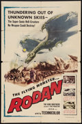 "Movie Posters:Science Fiction, Rodan! The Flying Monster (Toho/ DCA, 1957). One Sheet (27"" X 41"").Science Fiction.. ..."
