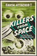 "Movie Posters:Science Fiction, Killers From Space (RKO, 1954). One Sheet (27"" X 41"") Style A.Science Fiction.. ..."