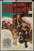 "Movie Posters:Adventure, Headin' for God's Country (Republic, 1943). One Sheet (27"" X 41"").Adventure.. ..."