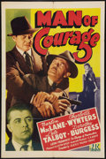 "Movie Posters:Drama, Man of Courage (PRC, 1943). One Sheet (27"" X 41""). Drama.. ..."