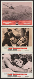 """Movie Posters:James Bond, From Russia with Love Lot (United Artists, 1964). Lobby Cards (3)(11"""" X 14""""). James Bond.. ... (Total: 3 Items)"""