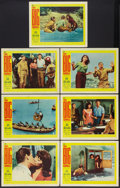 """Movie Posters:Action, The Big Gamble Lot (20th Century Fox, 1961). Lobby Cards (7) (11"""" X 14"""") and Lobby Card Set of 8 (11"""" X 14""""). Action.. ... (Total: 15 Items)"""