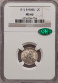 Barber Dimes: , 1916 10C MS66 NGC. CAC. NGC Census: (33/8). PCGS Population (39/4).Mintage: 18,490,000. Numismedia Wsl. Price for problem ...