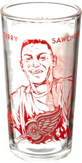 Hockey Collectibles:Others, 1961-62 Terry Sawchuk York Peanut Butter Glass....