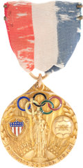 Miscellaneous Collectibles:General, 1924 Jakes Mulholland U.S. National Team Soccer OlympicParticipation 14 Karat Gold Badge....