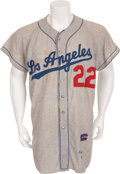 Baseball Collectibles:Uniforms, 1960 Johnny Podres Game Worn Los Angeles Dodgers Jersey....