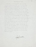 Autographs:Authors, M. Scott Momaday. House Made of Dawn. Typed Excerpt, signed by the author in black ink, from his acclaimed 1968 ...