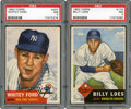 Baseball Cards:Lots, 1953 Topps Baseball PSA NM 7 Pair (2) - With Whitey Ford!...