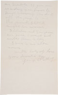 "Autographs:Military Figures, George S. Patton Autograph Letter Signed ""George S. Patton,Jr"" in pencil. One page (both sides),..."