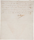 "Autographs:Non-American, Napoleon Bonaparte Letter Signed ""Napoleon"". One page, 7.25""x 8.5"", St. Cloud, October 29, 1804 (7 Brumaire XIII) to Mo..."