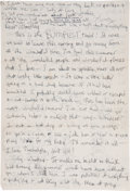 """Autographs:U.S. Presidents, Jacqueline Kennedy Onassis Autograph Letter Signed """"Lots of LoveJackie"""" as a teenager with several humorous dra..."""
