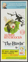 "Movie Posters:Hitchcock, The Birds Lot (Universal, 1963). Australian Daybill (13"" X 30"") and One Sheet (27"" X 39.5""). Hitchcock.. ... (Total: 2 Items)"