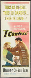 """Movie Posters:Hitchcock, I Confess (Warner Brothers, 1953). Insert (14"""" X 36""""). Hitchcock.. ..."""
