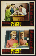 """Movie Posters:Hitchcock, Psycho (Paramount, 1960). Lobby Cards (2) (11"""" X 14""""). Hitchcock..... (Total: 2 Items)"""
