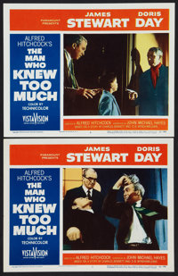 "The Man Who Knew Too Much (Paramount, 1956). Lobby Cards (2) (11"" X 14""). Hitchcock. ... (Total: 2 Items)"