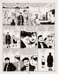 Jaime Hernandez Love and Rockets page 8 Original Art (Fantagraphics, 1993)