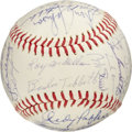 Baseball Collectibles:Balls, 1962 Milwaukee Braves Team Signed Baseball (32 Signatures) - FromDel Crandall Collection....