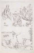 Original Comic Art:Panel Pages, Jack Kirby Super Powers #5 Batman and Robin page 6 PencilsOriginal Art (DC, 1986)....