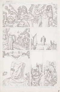 Jack Kirby Super Powers #5 page 8 Pencils Original Art (DC, 1986)