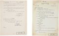 "Autographs:Military Figures, George S. Patton Typed Report Signed ""G. S. Patton, Jr."" as""Lieutenant General, U.S.A., Commanding."" Two pages, 8"" ...(Total: 2 Items)"