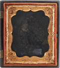 Photography:Ambrotypes, Black Sixth Plate Thermoplastic Case....