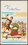 """Movie Posters:Adventure, The Slave (MGM, 1963). Autographed Window Card (14"""" X 22"""").Adventure.. ..."""