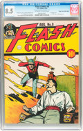 Golden Age (1938-1955):Superhero, Flash Comics #8 Mile High pedigree (DC, 1940) CGC VF+ 8.5 Off-white to white pages....