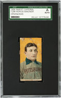 Baseball Cards:Singles (Pre-1930), 1909-11 T206 Sweet Caporal Honus Wagner SGC Authentic - A NewlyDiscovered Example!...