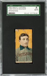 1909-11 T206 Sweet Caporal Honus Wagner SGC Authentic - A Newly Discovered Example!